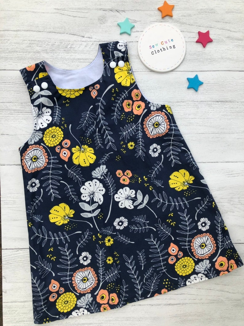 a6eaa084e7 Floral print pinafore, 2-3 year pinafore, children's dress, girls dress,  kids clothing, summer dress, ready to post