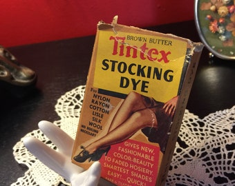 39ffbff89b1 Vintage Antique 1950 s Tintex Stocking Dye - Brown Butter Fabric Color -  Mid 20th Century