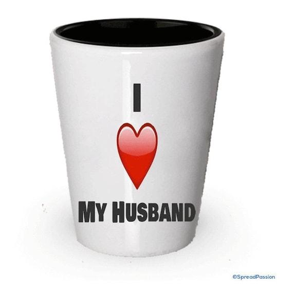 Ich Liebe Mein Mann Mann Shot Glas Geburtstag Geschenk Etsy