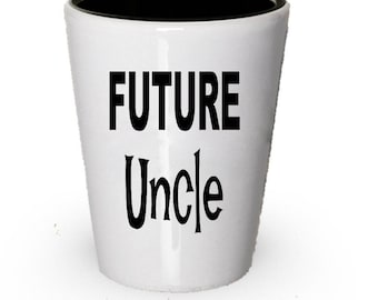 Future Uncle Shot Glass , Gift Present For Uncle , Christmas Present , Birthday Gifts , Anniversary Gift