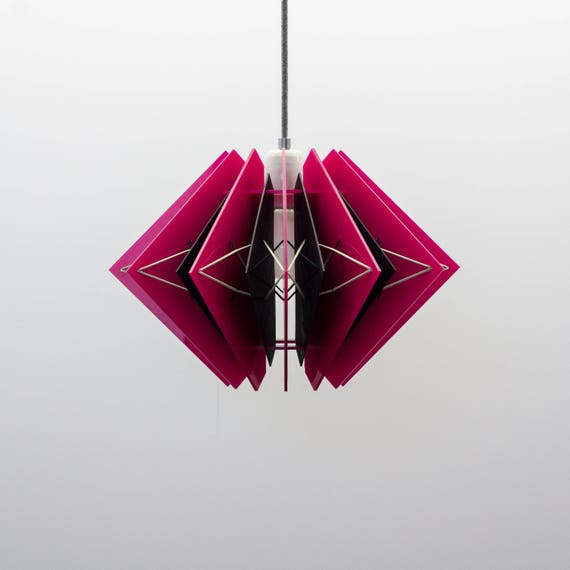 acrylglas prototype leuchte rote design lampe farbige etsy. Black Bedroom Furniture Sets. Home Design Ideas