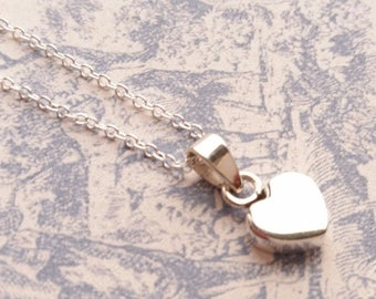 Love Heart 925 Sterling Silver Heart Necklace Ladies Pendant Perfect Valentine's Day Gift for Her Valentine's Day
