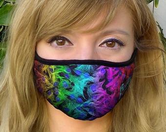 Molecular Rainbow Face Mask Washable and Reusable (Science Art, Fashion, Molecular Biology, Cells, Microscopy DNA, STEM, Teacher, Gift, PhD)