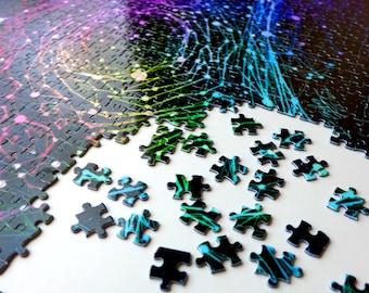 Molecular Galaxy 1000 Piece Jigsaw Puzzle for Children, Adults (Science Art, Biology, Space, DNA, STEM, Gift, Teacher, PhD, Graduation)