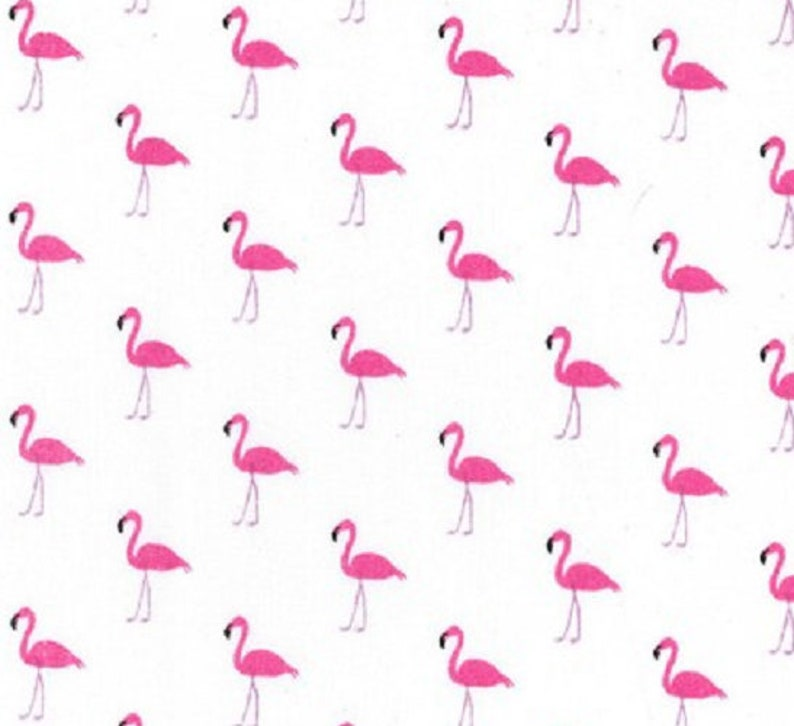 New Polycotton Fabric Children/'s Kids Birds Flamingo Pink Material CRAFT