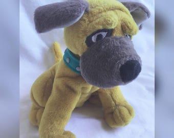 Bull Dog, Stuffed Plush Dog, Mattel Stuffed Animal, Bean Bag Dog
