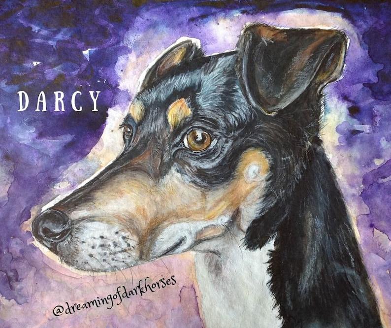 A4 Custom Pet portraits Realistic Animal art with Soul image 1