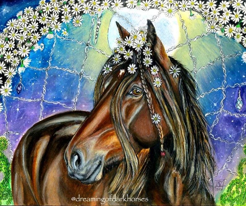 A4 Beautiful Whimsical Custom Pet portraits Animal art with image 1