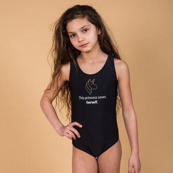 Baby Girls One Piece Bathing Suits Rainbow Unicorn Swimsuits Halter Skirts Swimwear 3-8 Years