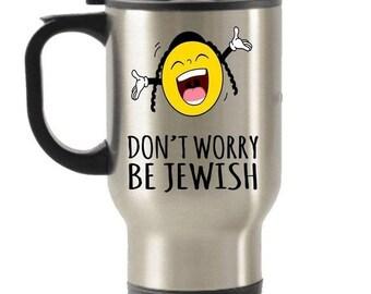 LIMITED SALE Jewish Travel Mug Gifts Coffee