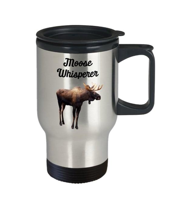 Moose Whisperer Mug Funny Tea Hot Cocoa Coffee Cup Novelty Birthday...
