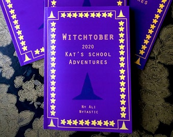 Witchtober 2020 (Zine Comic Witch Cat Spoopy Cat)