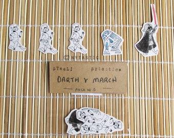 Darth V mars (Pack de 5 stickers)