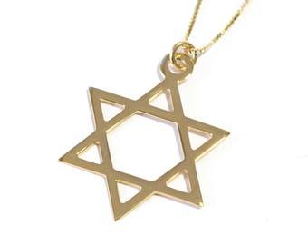 14k gold star of david necklace gold magen david necklace 14k gold jewish jewelry gold david star necklace jewish symbol necklace