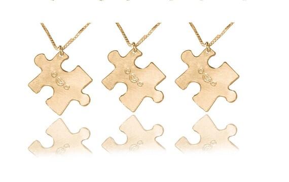 Amitie 3 Colliers 3 Sœurs Amitie Puzzle Collier Pour 3 Collier Etsy