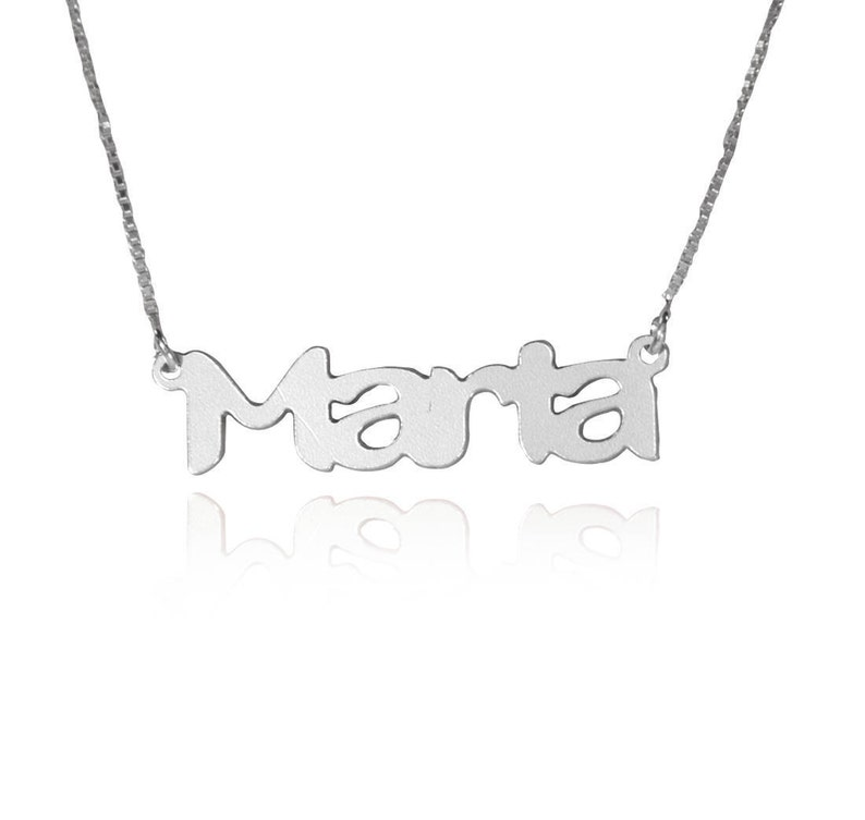 c48291555c9b8 Name necklace silver nameplate mothers necklace mom necklace personalized  nameplate necklace nameplate necklace customized