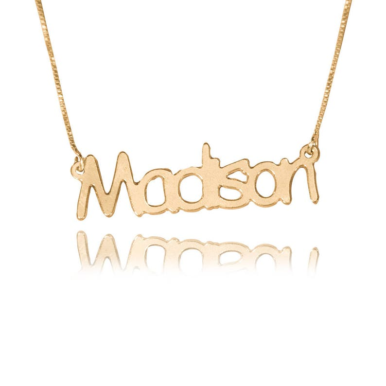 edf34cbba45cb 14k gold name necklace solid gold nameplate necklace 14ct gold name  necklace gold necklace with name 14k gold name chain name necklace 14k
