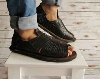 black huarache for men, man huarache sandal