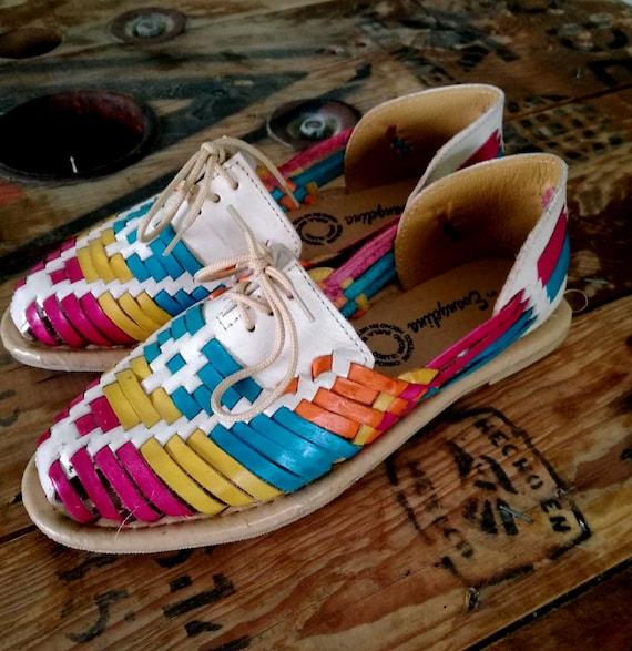 women mexican huarache shoes | Etsy