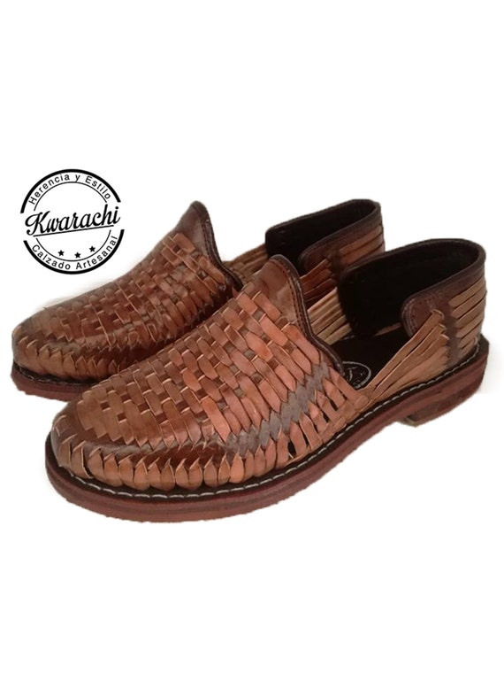 Men's closed Huarache sandal, handmade, handmade, made in Mexico