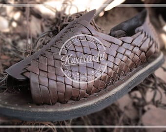 Huarache oiled very resistant. 100% leather, vintage. Handmade. handmade huarache. handmade. oiled