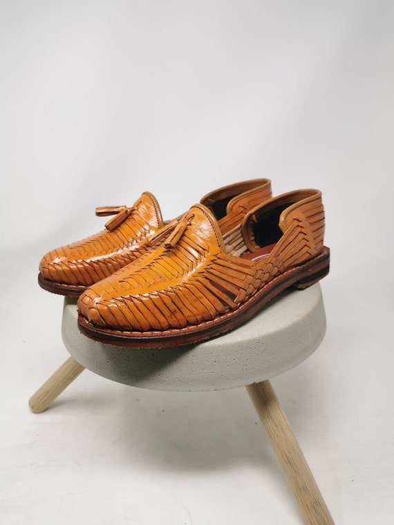 Mexican huaraches for men, 100% leather, shoes made in Mexico.