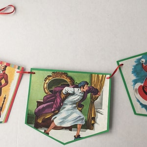 Book Lover Gift Style B Cheshire Cat White Rabbit Mad Hatter Tea Party Birthday Party Bunting Alice in Wonderland Garland