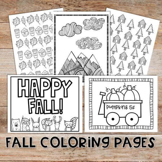 Fall Coloring Pages for Kids and Adults