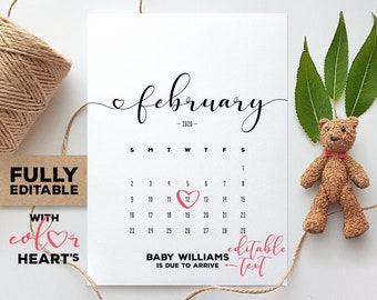 February 2020 Calendar Handout February | Etsy