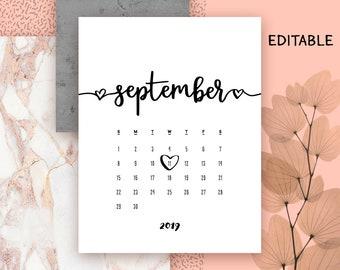 2019 Diy Calendar Etsy