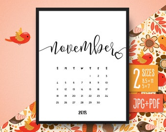 popular items for november calendar