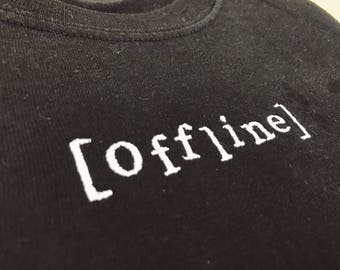 Embroidered OFFLINE T shirt