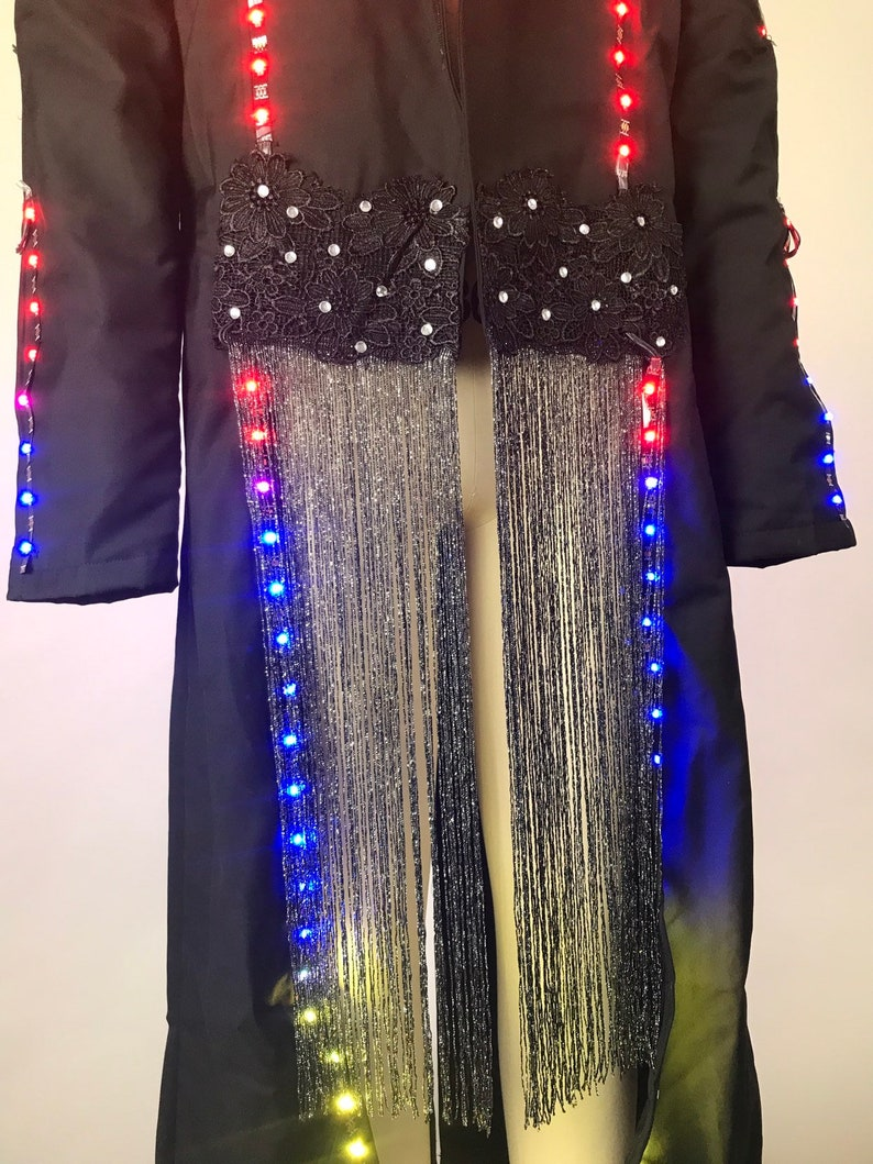 Psychedellic Costume Halloween Burner club Festivalwear LED Burning Man Jacket House of Yes