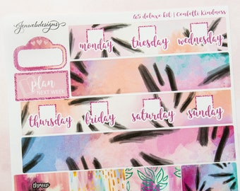 A5 Confetti Kindness || A5 Weekly Planner Kit || Fits JenWebDesigns A5 Vertical Inserts