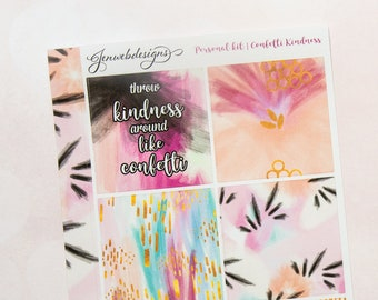 PERSONAL Confetti Kindness || Personal Weekly Planner Kit || Fits Personal Vertical Inserts