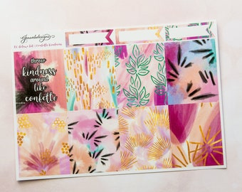ECLP Confetti Kindness || Deluxe Weekly Planner Kit || ECLP Vertical