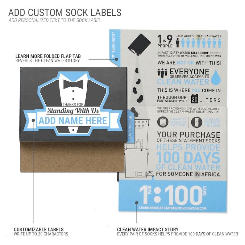 Groomsmen Sock Kit for Groomsmen Customizable Golden Yellow Gray Mustache Wedding Socks Groom Ushers Fathers