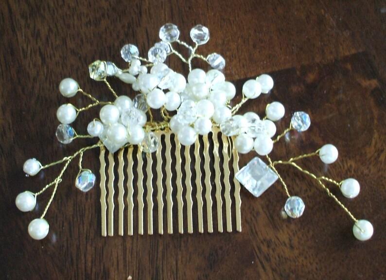 Wedding hair comb Bridal hair comb Decorative comb Bridal hair piece Wedding headdress