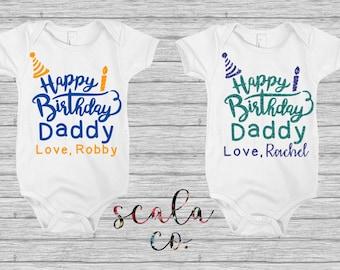 Happy Birthday Daddy Baby Bodysuit