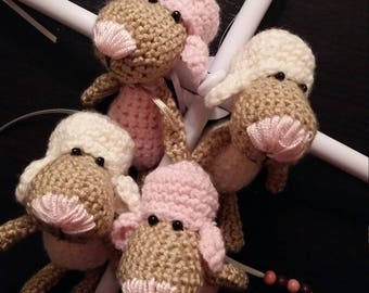 Sheep- Mobile, Mobile Crochet, Music Box Mobile, Sheep, Baby, Music Mobile