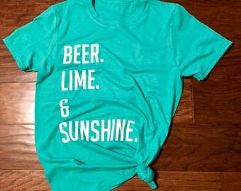 Beer, Lime, & Sunshine Tee
