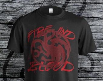 House Targaryen Fire and Blood Unisex Tee