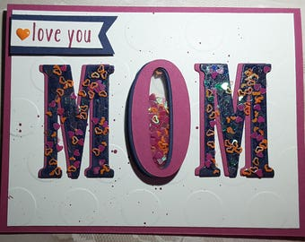 love you mom shaker card
