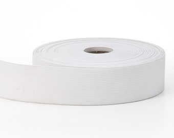 Knit elastic, White 2 in - 10 yards