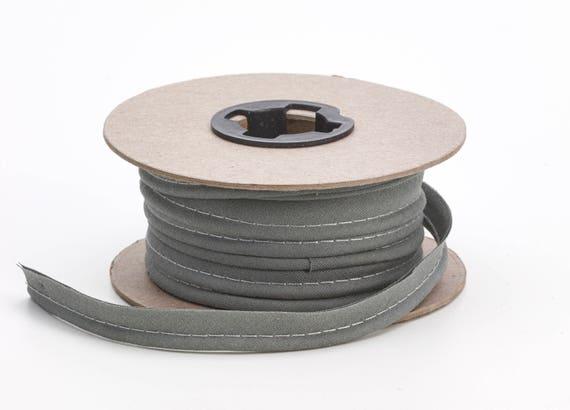 Broadcloth cord piping 12 Wide Smoke grey 15 yds