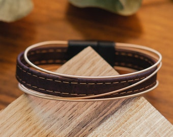 Cocoa - Guitar string and cork bracelet
