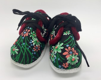 Handmade Floral Winter Lace Ups