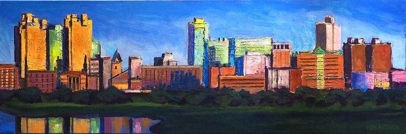 Ft. Worth Texas Cityscape Modern Texas City Wall Art image 0