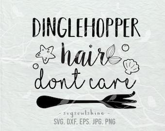 Dinglehopper Hair Don't Care  SVG File Silhouette Cut File Cricut Clipart Print Vinyl sticker shirt design Printable Wall Decor SVG DXF