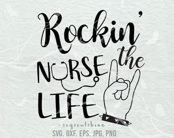 Rockin Nurse Svg Etsy